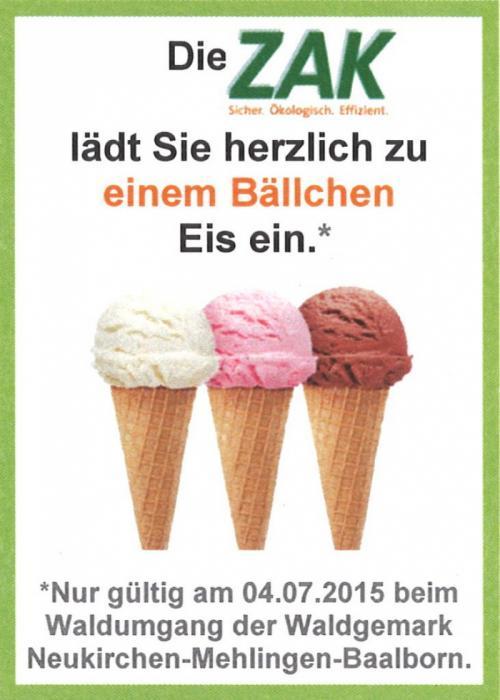 Alle fünf Jahre Waldumgang der Waldgemark Neukirchen-Mehlingen-Neukirchen - am Samstag, dem 04. Juli